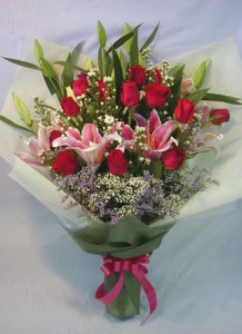 Bouquet Of Lilies, Roses