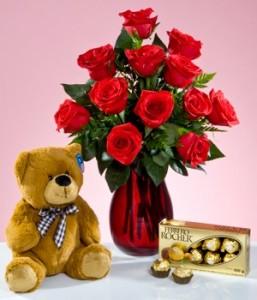 roses teddy chocolates