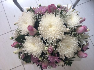 flowers for office reception table