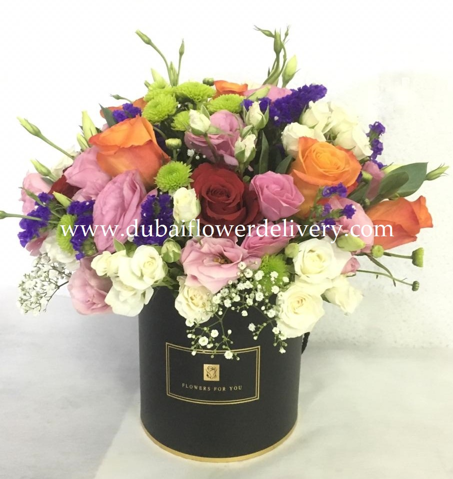message with flowers