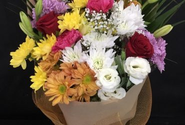 small flower bouquet as gift