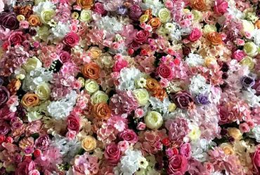 flower wall for celebrations